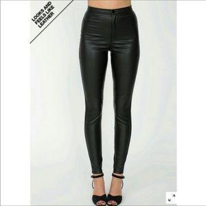 BNWT American Apparel Vegan Leather Pants Size L